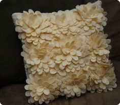 Felt and Lace Petal Pillow