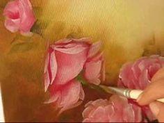 Pintando Rosas - Parte 3 - Óleo sobre tela por Shirley Sbeghen