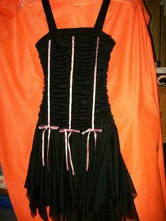 SIZE 10 AMY BYER black w/pink DRESS stunning