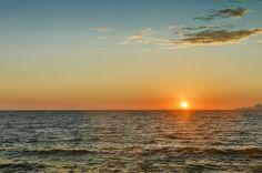 Закат на море. (Россия, Адлер)