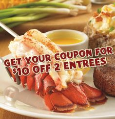 NEW Outback Steakhouse Coupon $10 off 2 Entrees!