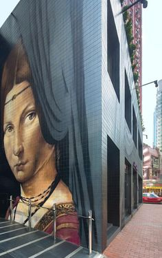 At the J Plus Hotel in Hong Kong, it's on my list of the top five star hotels in #HongKong #mural #streetart