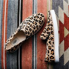 Switch it up this season by adding some flair and color to your summer shoe collection with these cheetah print slip on sneakers