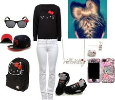"""""""- Hello Kitty EVERYTHING !"""" by tbarbiie ❤ liked on Polyvore"""
