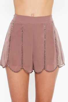 Nasty Gal beaded shorts - this website is my life <3