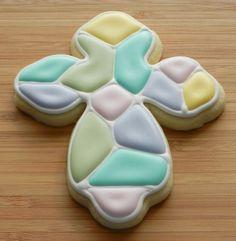 Mosaic Cross Cookies - simplysweetsbyhoneybee.com
