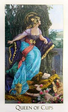 Queen of Cups from the Victorian Romantic Tarot #divination