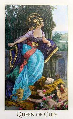 Queen of Cups - Victorian Romantic Tarot