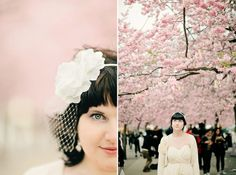 A blissful Stockholm cherry blossom wedding