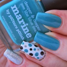 It's all about the polish: piCture pOlish - Marine dotticure