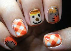 Slightly Nail Polished: Autumn Scarecrow... // http://slightlynailpolished.blogspot.com/2014/09/autumn-scarecrow.html
