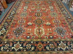 "#42: 7'10"" x 10'7"" Afghan rug. This design is called Karaja which is a small village in North West Iran."
