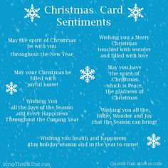 Christmas Card Sentiments | Scrap This . . . Ink That!
