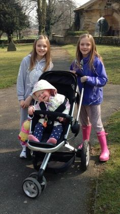 Daisy and phoebe with a baby! Can this get any cuter? NO