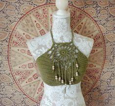 Sol Halter Top Crochet PATTERN / Dream Catcher Crop by MoraleFiber