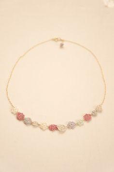 crochet necklace by cotoyo matsue