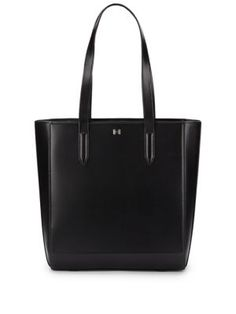 HALSTON HERITAGE Leather Tote/Black. #halstonheritage #bags #leather #hand bags #tote #lining #