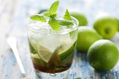 Dukan Mojito: A sprig of mint  1 teaspoon of powdered sweetener  Lemon juice  1 cup sugar-free lemonade  A few drops of Dukan white rum flavouring      In a glass, mix together a sprig of mint, a teaspoon of powdered sweetener, and a squeeze of lemon. Use a spoon to mix all the ingredients together, then add a couple of ice cubes and top the glass up with sugar-free lemonade. Finally, add a splash of Dukan Diet white rum flavouring. Enjoy