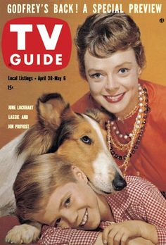 TV Guide: March 1960 - June Lockhart, Lassie and Jon Provost. I loved this show, and watched it every day I lived with my Grandma. History Of Television, Vintage Television, Jon Provost, June Lockhart, 1960s Tv Shows, Thing 1, Old Shows, Great Tv Shows, Vintage Tv