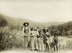 Farming family in the Mora Valley, New Mexico  Date: 1895 Negative Number 022468