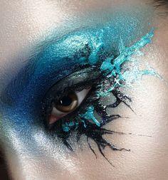 make-up by Nataliya Naida photo by Marina Listrova Oil Water, Lip Art, Eye Makeup, Halloween Face Makeup, Make Up, Lips, Mermaids, Hair, Beauty