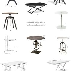 Adjustable Height Tables To End Your Small Space Woes