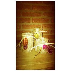 Waxinelichthouders 'zak van Sinterklaas (met Pietenveertjes)'
