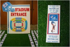 Football Theme Sports Ticket Escort Place Card Table by Life O' The Party - mazelmoments.com