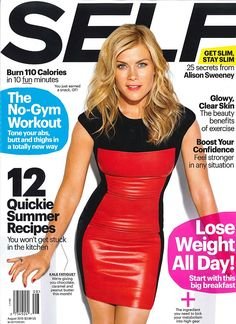 Alison Sweeney poses for the cover of Self magazine