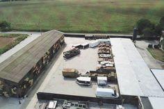 Snímka z dronu, ktorá mala byť urobená nad klubom Nočných vlkov v Dolnej Krupej.