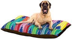 """Kess InHouse Anneline Sophia """"Blanket"""" Rainbow Tribal Dog Bed, 50 by 60-Inch Kess InHouse http://www.amazon.com/dp/B00N3N3XT6/ref=cm_sw_r_pi_dp_ceAdub00AA6KC"""