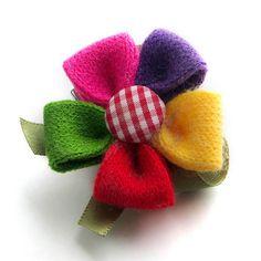 Women's Beauty Cloth Art Handmade Brooch , $7 Knitted Flowers, Felt Flowers, Fabric Flowers, Women's Beauty, Beauty Women, Fabric Brooch, Brooches Handmade, Big Project, Corsage