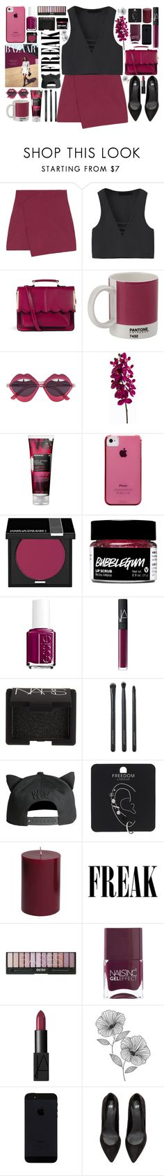 """Be a freak like me, too"" by hannah-gw-martin ❤ liked on Polyvore featuring ASOS, W2 Products, House of Holland, Korres, Case-Mate, MAKE UP FOR EVER, Essie, NARS Cosmetics, Japonesque and H&M"