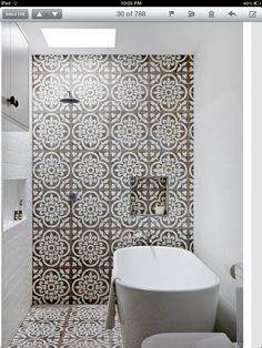 In love with these bathroom tiles. Home of Jodi York via The Design Files Bad Inspiration, Bathroom Inspiration, Wet Rooms, Bathroom Renos, Bathroom Interior, Bathroom Ideas, Bathroom Tiling, Bathroom Renovations, Tiled Bathrooms