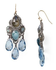 Alexis Bittar Siyabonia Midnight Gunmetal Blue Chandelier Earrings | Bloomingdale's | $275