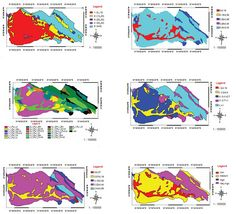 Figures 3-5 and 7-9 from Estimate of Erosion and Sedimentation in Semi-arid Basin using Empirical Models of Erosion Potential within a Geographic Information System Published in Air, Soil and Water Research