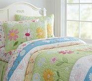 Pink Daisy Garden Bedroom | Pottery Barn Kids