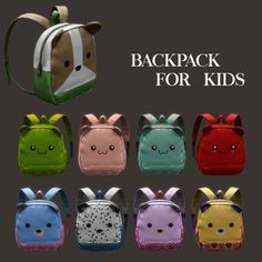 Leo Sims - Backpack for kids for The Sims 4