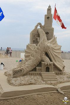 michel lepire. Fifth Place and People's Choice sand sculpture by Michel Lepire