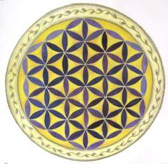 Mandala stained glass idea