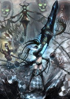 Black Rock Shooter, Dead Master, STRength, Black Gold Saw