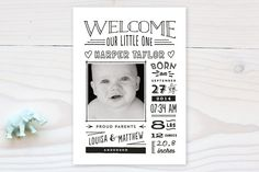 I love the birth announcements at Minted. If you have a baby registry at www.babyli.st you can get an awesome discount.
