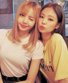 Lisa and Jennie//BlackPink