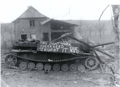 Jagdpanzer destroyed in fighting with 3rd Armored Division, Battle of the Bulge, Ardennes