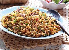 Arroz con Gandules - Rice & Pigeon Peas. Puerto rican national dish
