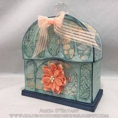 Dreaming Tree Opaline perfume box using Quick Quotes Harmony papers