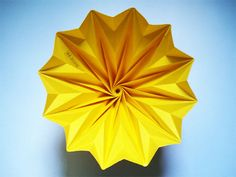 minimalist geometric paper origami lamp shade Yellow by twReborn, NT$1020.00