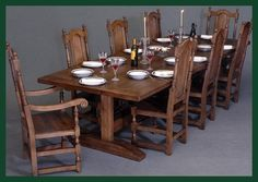 solid oak dining table & chairs Solid Oak Dining Table, Dining Table Chairs, Kitchen, Furniture, Home Decor, Cooking, Decoration Home, Room Decor, Home Furniture