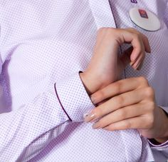 AIB Bank Corporate uniform - Close up detail of cuff on  ladies shirt