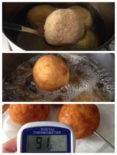 Checking The Arancini Temperature
